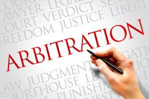 Arbitration word cloud concept